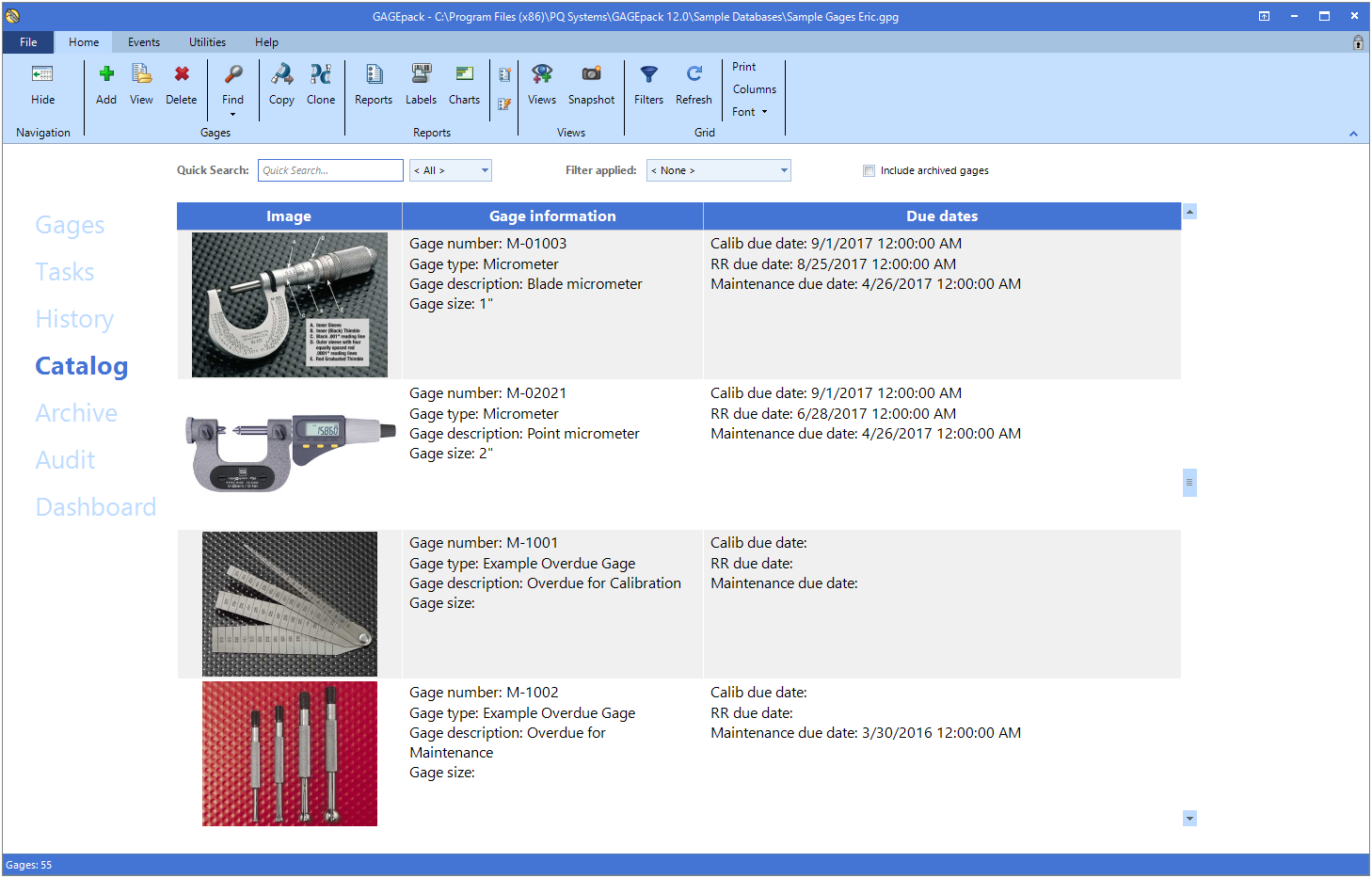 GAGEpack – The Original Calibration Management Software Solution