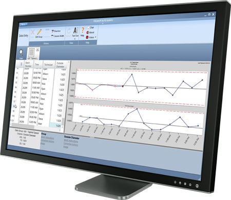 SPC software for histogram, control chart, capability analysis, and Pareto diagrams that you'll need to comply with ISO 9000, Six Sigma, Baldrige, and other quality standards.